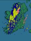 Here's the latest rainfall radar image of Ireland