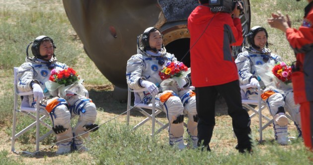 In photos: Chinese astronauts crash land after almost two weeks in space