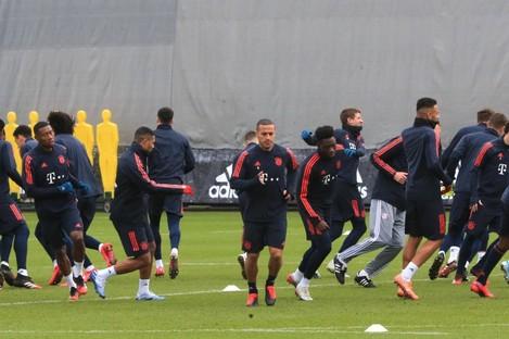A Bayern Munich training session last month.