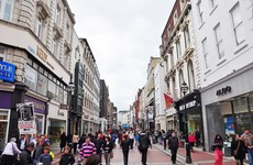 Grafton Street footfall plummets by 75% as people stay away from Dublin city centre