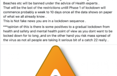 Debunked: No, Ireland is not in a 'lockdown sequence' despite what this Facebook post says
