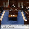 Emergency Covid-19 legislation passed by reduced number of TDs in Dáil