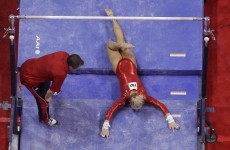 VIDEO: Gymnast's Olympic dreams end with nasty fall