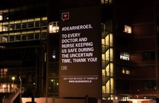 Messages of support for frontline healthcare workers light up Mater Hospital