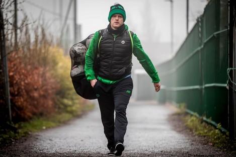 Damien Duff coaching with Shamrock Rovers.