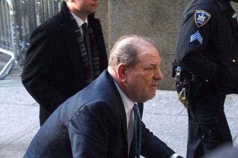 Harvey Weinstein arriving at Manhattan Criminal Court in February.