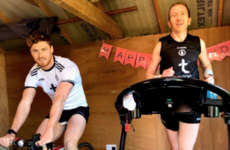 Tyrone star's dad runs marathon in garden shed to raise funds for hospital where his wife works