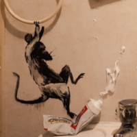 Banksy reveals new artwork as he 'works from home' during lockdown