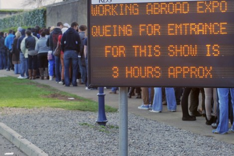 The Working Abroad jobs fair in the RDS attracted thousands of visitors earlier this year.
