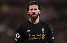 Liverpool keeper Alisson ready to play again after recovering from hip injury