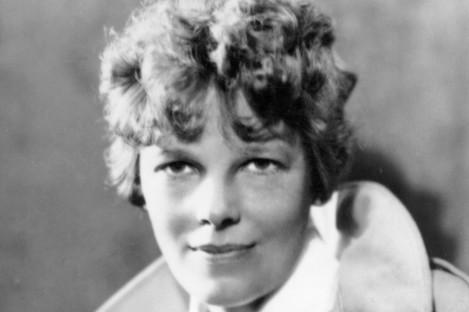An undated photo of Amelia Earhart