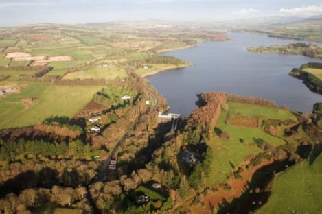 The Poulaphoca reservoir in Wicklow.