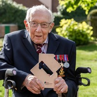 Captain Tom Moore becomes oldest person to top UK singles chart