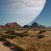 PIC: If Jupiter were as close to Earth as the moon is...