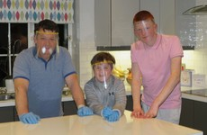 Two Kildare brothers help their dad to produce 1,000 face shields for front line medical staff