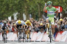 VIDEO: Peter Sagan literally danced his way across the finish line at the Tour de France today
