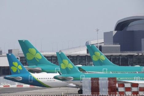 Aer Lingus said it is carrying out after pictures of the full flight circulated.