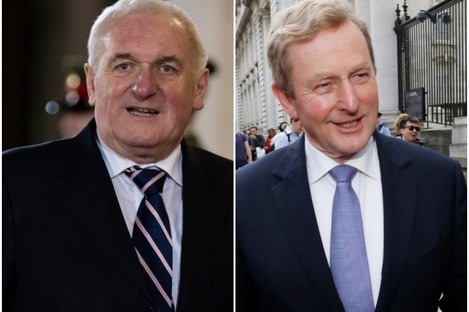 The individual pension payments to former Taoisigh Bertie Ahern and Enda Kenny will not be published in future.