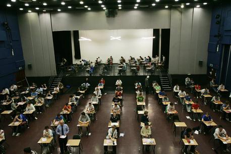 File photo of Leaving Cert exams in Belvedere College, Dublin.