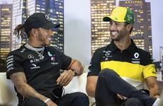 Hamilton feeling 'fresher than ever' after sabbatical, while Ricciardo braced for 'chaos' when Formula One starts