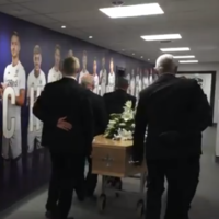 Leeds give Hunter poignant send off at Elland Road as legend's funeral is held