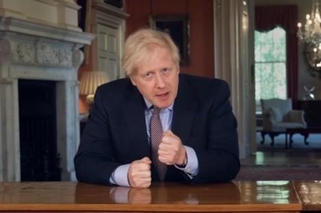 Boris Johnson in his address to the UK this evening.
