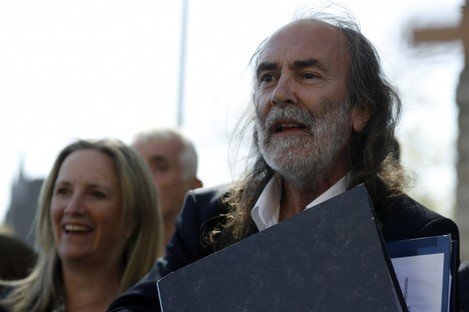 O'Doherty and Waters outside the Four Courts last week.