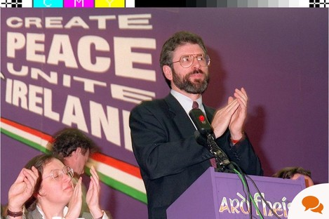 Adams at a party Ard Fheis in 1995.