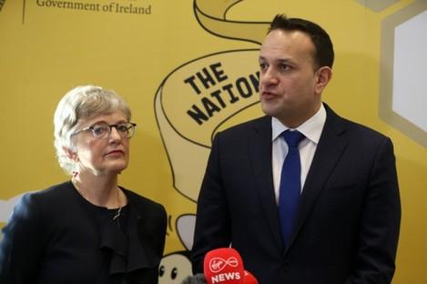Children's Minister Katherine Zappone and Taoiseach Leo Varadkar.