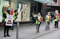 'These workers deserve respect': Debenhams staff stage protests outside 11 stores across country