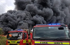 Firefighters battle large blaze in north Dublin with smoke visible city wide