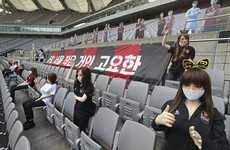 South Korean club apologises after being accused of using sex dolls to fill empty stadium