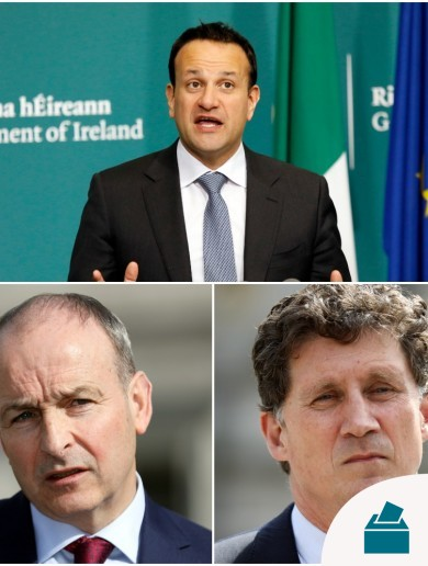 After weekend row, Varadkar, Martin and Ryan sat down for talks on government formation today