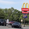 Gardaí move cars on at a number of outlets as heavy traffic builds up for McDonald's re-opening