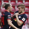 One of Europe's most highly rated strikers bags hat-trick as Leipzig prevail