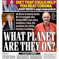 'What planet are they on?', 'Bojo stands by top aide': UK front pages react to Dominic Cummings crisis