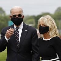 Joe Biden wears face mask in his first public appearance in two months