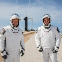 'A major milestone': Nasa and SpaceX set to send astronauts to the ISS tomorrow