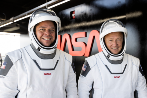 The capsule will be piloted by NASA astronauts Bob Behnken and Doug Hurley.