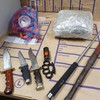 Two arrested after drugs and assortment of weapons seized during search of Dublin home