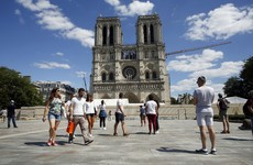 Notre-Dame square reopens for first time since devastating fire