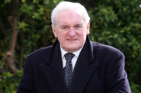 Bertie Ahern at a funeral in Dublin in 2017.