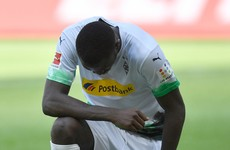 Lilian Thuram's son Marcus takes knee after scoring for Gladbach