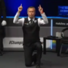 Snooker player Alfie Burden takes a knee at start of Championship League match