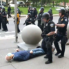 New York police officers suspended after 75 year-old shoved to ground and left in serious condition at protest