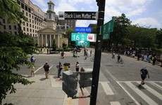 Street section near White House renamed Black Lives Matter Plaza