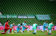 Relegation looms large for Werder as teams take knee for Floyd protests