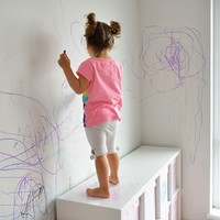 How to get crayon off the walls... using products you already have at home