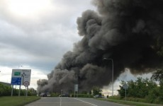 Large fire at factory in Naas