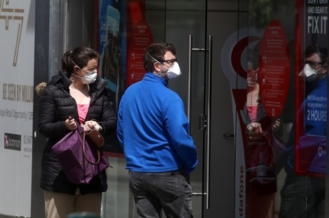 File photo. People wearing masks in Dublin city.